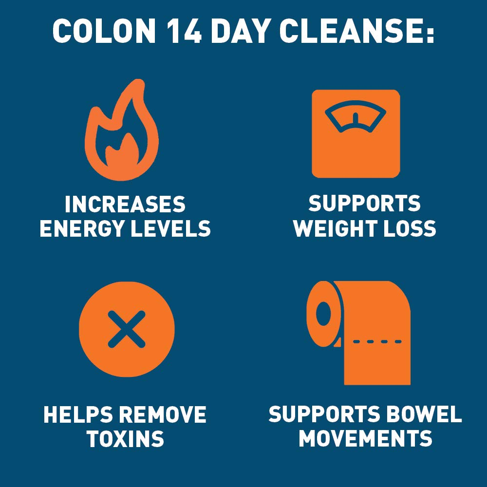 Dr Tobias Colon 14 Day Quick Cleanse  Supports Detox  Increased Energy Levels 28 Capsules