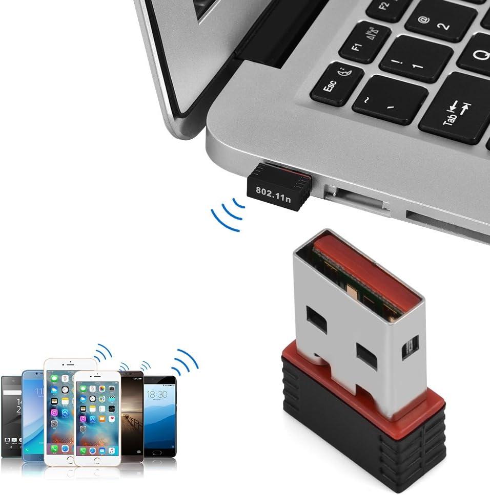USB Wireless WiFi Network Adapter for Desktop//Laptop//Media Player WPA // WPA2 WPA-PSK // WPA2-PSK etc Support WEP Nano Size 150Mbps High Speed