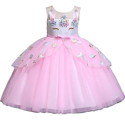 Disfraz De Unicornio Para Niñas Con Tutú Bailando Y Vestido