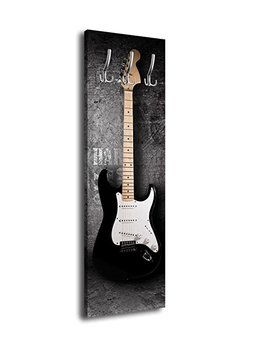 wandmotiv24 Perchero con diseño S de Guitarra G353 40 x 125 ...