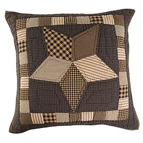VHC Brands Farmhouse Star Euro Patchwork Quilted Cotton Sham in Tan ()