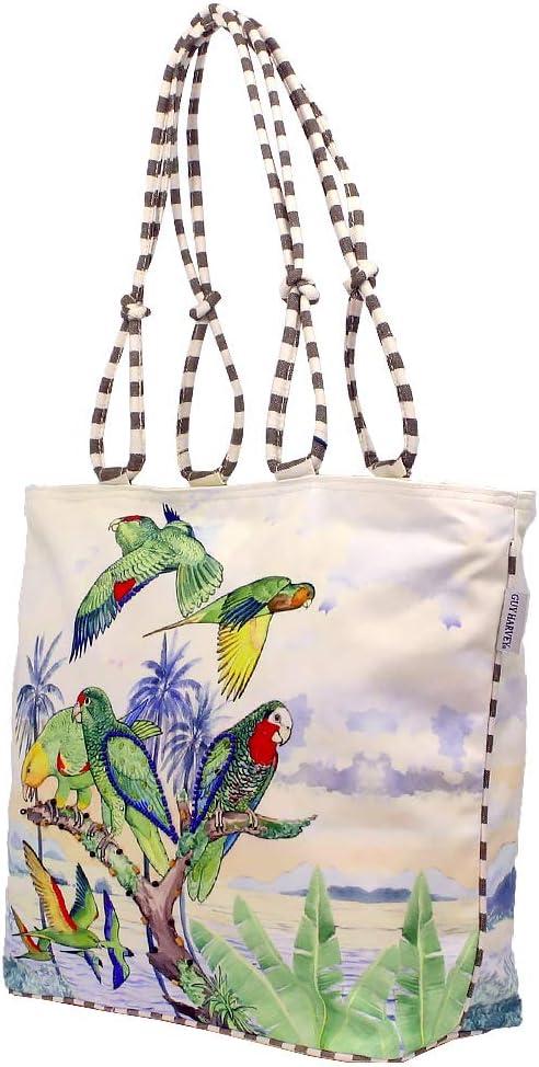 Guy Harvey Majestic Parrots Large Canvas Tote Bag