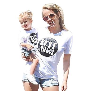 Mutter Kind Partnerlook Kleider,LUCKDE Crop Top Damen Baby Kleidung ...