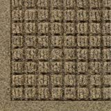 "Andersen 280 Waterhog ECO Elite Polypropylene Entrance Indoor/Outdoor Floor Mat, SBR Rubber Backing, 4 Length x 3 Width, 3/8"" Thick, Camel"