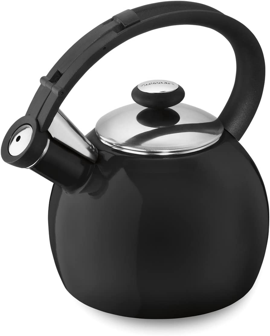 Cuisinart Omni Porcelain Enamel on Steel Tea Kettle, Black