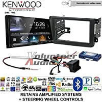 Kenwood DMX7704S Double Din Radio Install Kit with Apple CarPlay Android Auto Bluetooth Fits 2012-2014 Volkswagen Beetle, 2010-2014 Golf, 2006-2015 Jetta