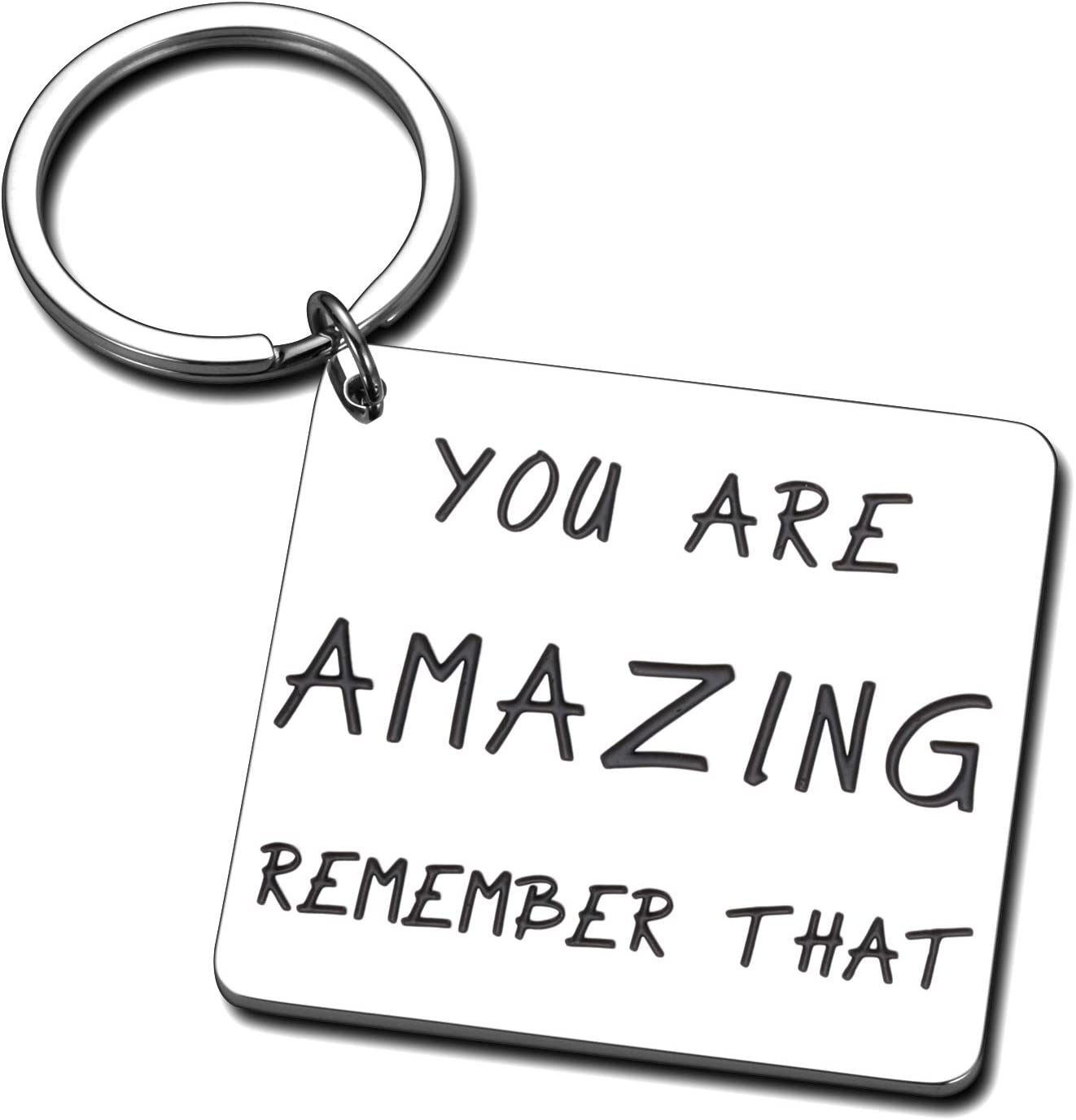 You are Amazing Remember That Inspirational Keychain Gifts for Teen Girl Boy Friend Coworker Teacher Appreciation Thank You Gift Women Men Daughter Mom Positive Saying Christmas Birthday Graduation