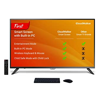 CloudWalker 109 cm (43 Inches) 4K Ultra HD Smart LED Screen 43SUA7 (Black)
