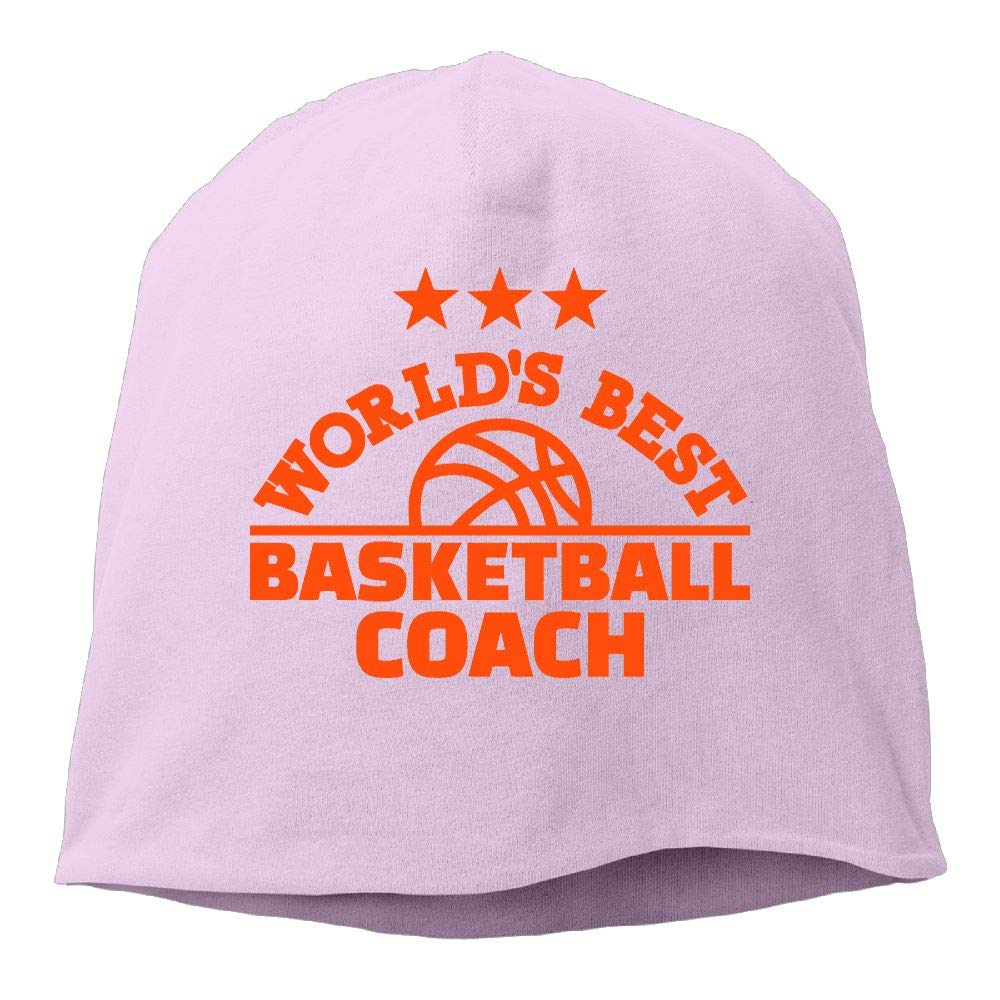 Headscarf Worlds Best Basketball Trainer Hip-Hop Knitted Hat for Mens Womens Fashion Beanie Cap