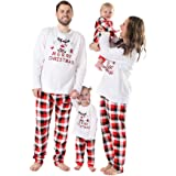 Weixinbuy Christmas Pajamas Family Matching Clothes for Men Women Boys Girls Kids Toddler Sleepwear