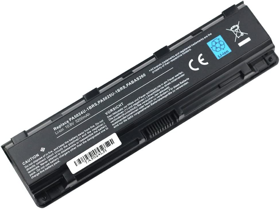 Bay Valley PartsReplacement Laptop Battery PA5024U-1BRS PA5023U-1BRS for Toshiba Satellite PRO C850 C855 C855D C55 C55T M800 L855 L875D P855 S855 L850 P800
