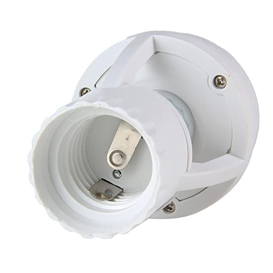 Amazon.com: Aolvo Infrared Motion Light Sensor Socket PIR Automatic LED Lights Switches E27 Lamp Holder Screw Bulb Socket LD120: Home & Kitchen