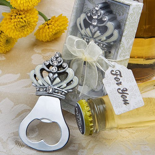 Crown design bottle opener favors (Set of 72) by Fashioncraft