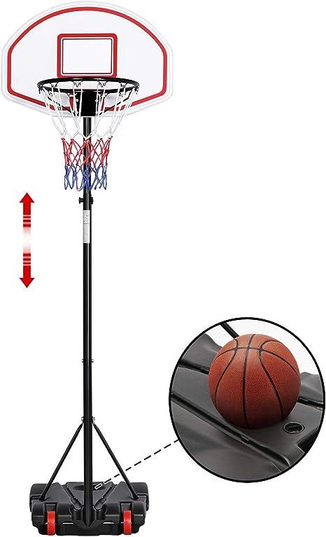 Yaheetech Canasta de Baloncesto con Soporte Tablero de Baloncesto ...