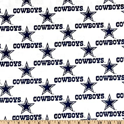 Amazon.com  Fabric Traditions NFL Cotton Broadcloth Dallas Cowboys White  Fabric by The Yard e1b281c73