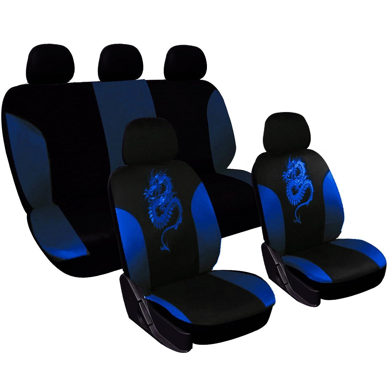 WOLTU Auto Sitzbezug Sitzbez/üge Schonbez/üge f/ür PKW ohne Seitenairbag inkL Fu/ßmatten Gummimatten 7212+AM7738g