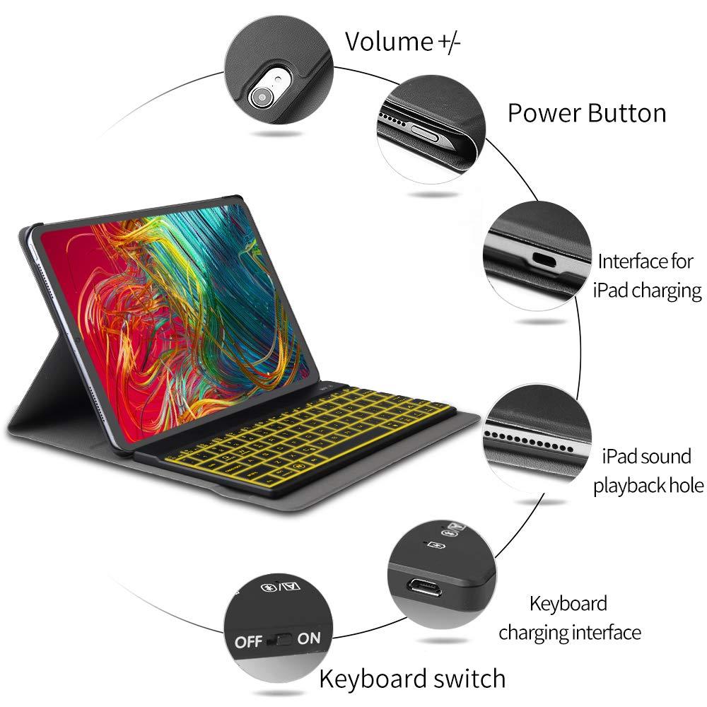 JADEMALL Pro 11 Keyboard Case for iPad Pro 11 Inch 2018, iPad Pro 11\