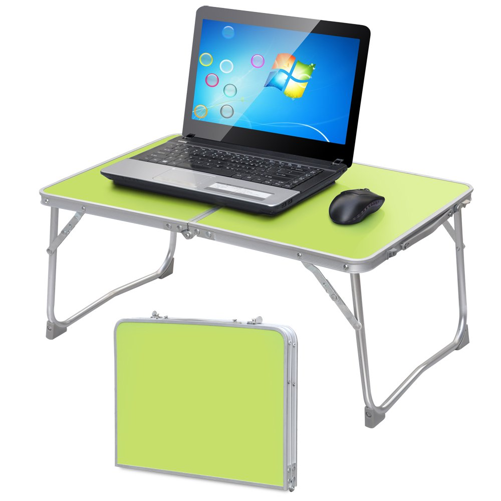 Amazon.com : World Pride Portable Folding Notebook Computer PC Laptop Table  Bed Tray Book Stand Ourdoor Picnic Table (Green) : Office Products