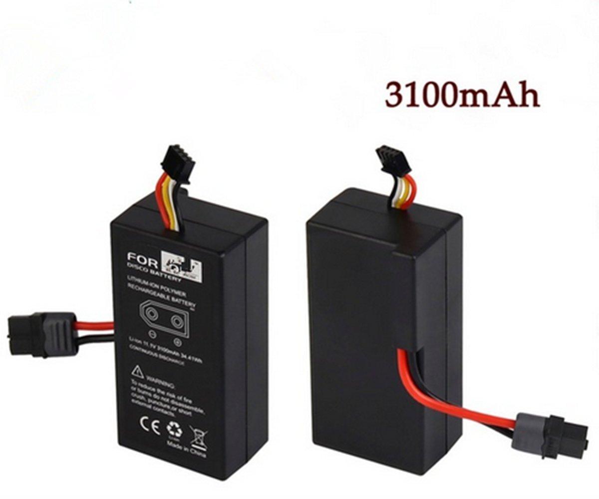 Reducción de precio Wandeli Batería Recargable de Iones de Litio para UAV Parrot Disco FPV 11.1v Batería Recargable de Polímero de Iones de Litio 3100mAh (2pcs)