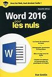 Word 2016 pour les Nuls poche, 2e édition