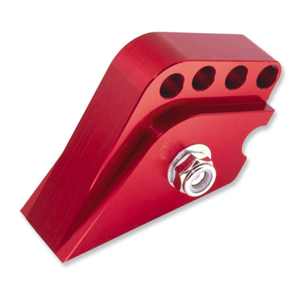 Rehausse CNC 4 trous rouge pour Peugeot debout Vicma