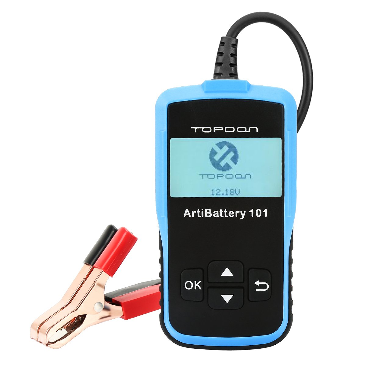 Car Battery Tester, Topdon ArtiBattery101 12V 100-2000 CCA Automotive Analyzer-Cranking Test, Charging Test and Battery Test for Battery System