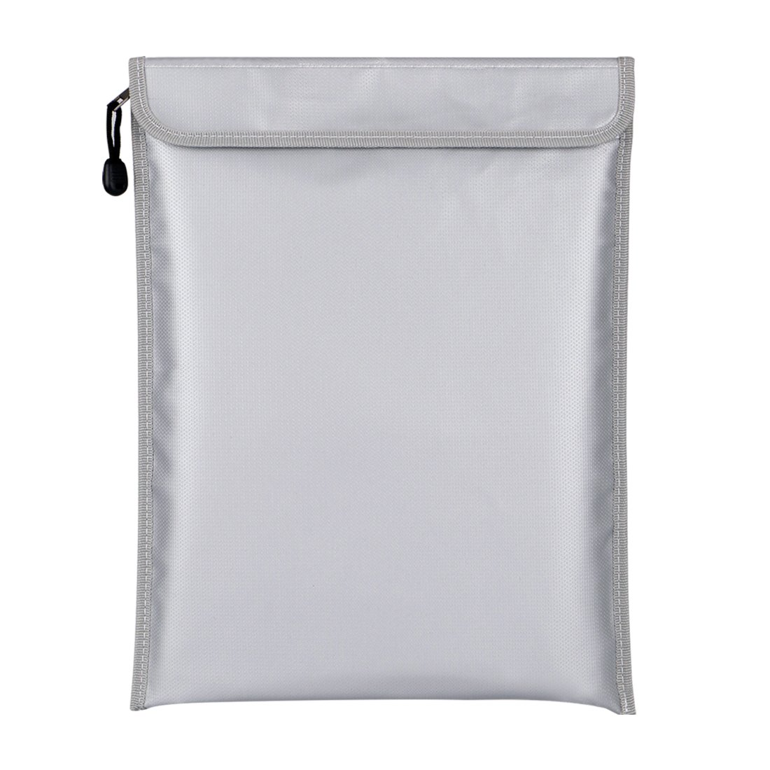 Fireproof Document Bags 29x43CM Zipper Closure No-Itch Silicone Coated Fiberglass, Heat-Proof Aluminum Fireproof Safe Bag for Money, Documents, Jewelry and Passport