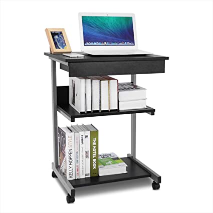 Escritorio para ordenador Ejoyous Rolling, mesa de ordenador ...