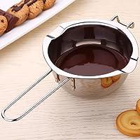 BeesClover - Olla de fundición de Chocolate de Acero Inoxidable con Calentador de Mantequilla, utensilio para Hornear