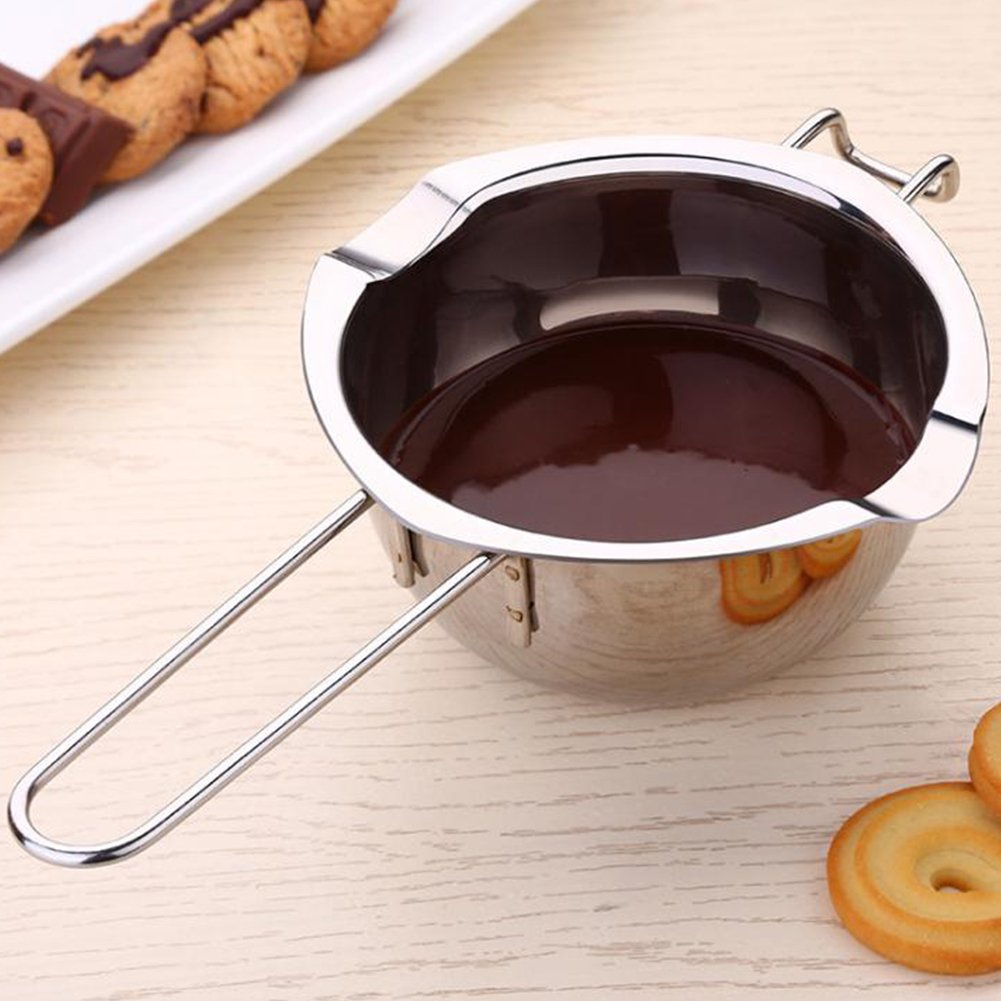 Dsstyle Stainless Steel Chocolate Melting Pot Butter Heated Pan Kitchen Baking Tool