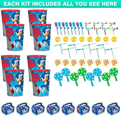 Costume SuperCenter Sonic the Hedgehog Favor Kit (For 8 Guests) ()