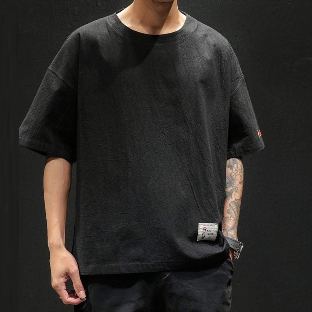 AG&T 2019 Moda Camiseta para Hombre Manga Corta Verano Cuello ...
