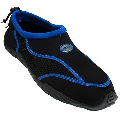 46928f578392 Rockin Footwear Men s Rockin Aqua Stripes Water Shoe Blue US Size  9  Regular US