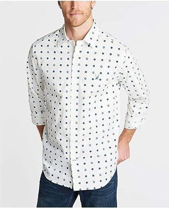 Nautica W93107 Hombre Camisa Blanca con Detalles Azules XL: Amazon.es: Ropa y accesorios