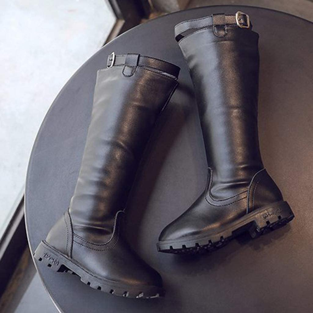 Girls Children Fall Winter Knee High Boots Casual Shoes 3-12 Years Old Teen Fashion Warm Zipper Knee Boots
