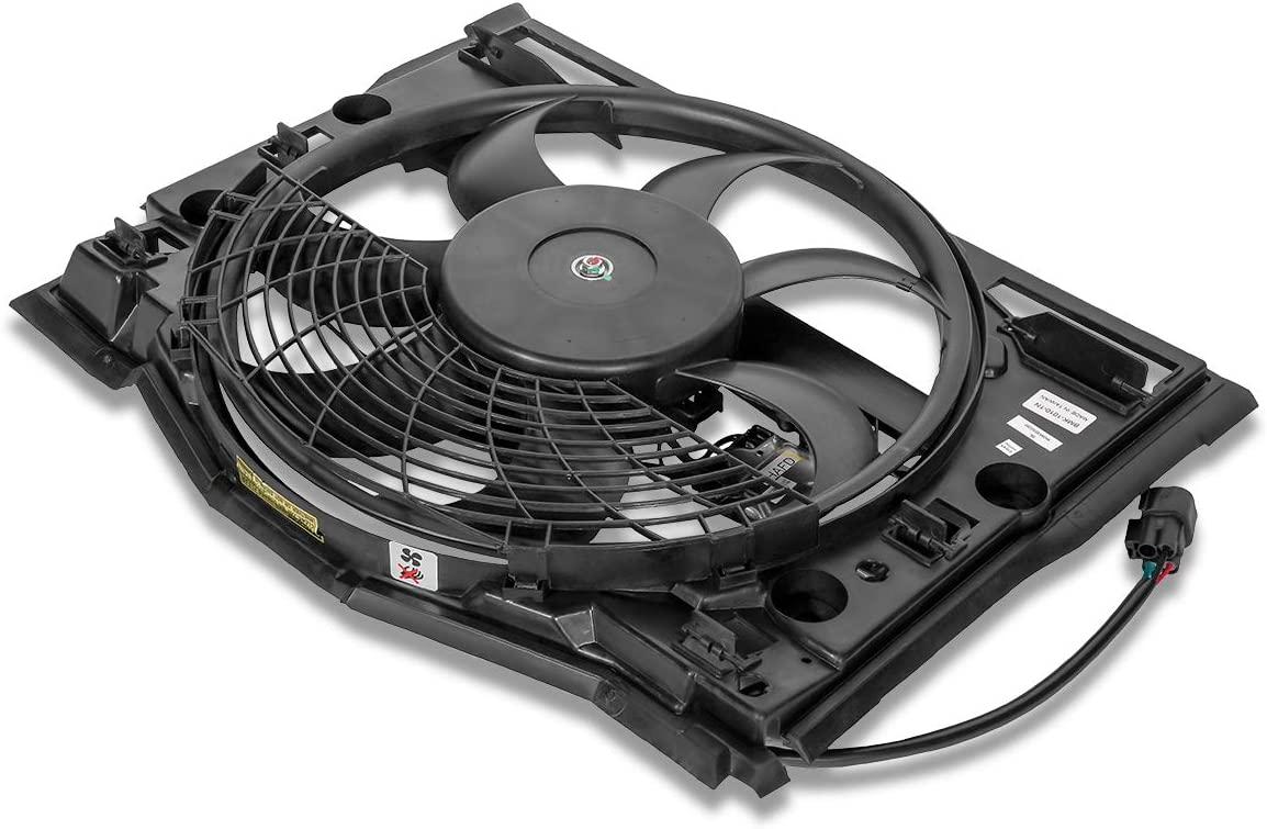 BM3020100 OE Style AC Condenser Cooling Fan Assembly for BMW E46 320i 325i 330i 01-05