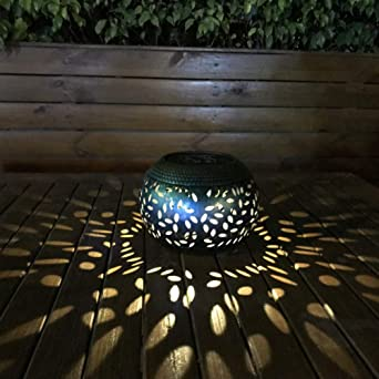 Artbro LED Linterna solar para exteriores, Retro Luces solares colgantes Jardín Luz nocturna impermeable Decoración de jardín Luz de lámpara para Patio de césped Pasarela (D): Amazon.es: Iluminación