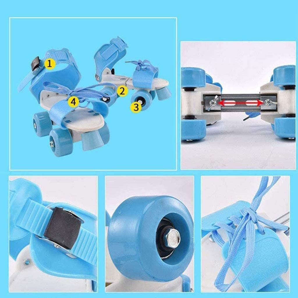 with Bright Color Arrowsy Roller Skates Adjustable for Kids Outdoor Skating 4 Wheels