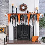 Fun Express Halloween Fireplace Mantel Scarf (Over 6 feet Long) Halloween Home Decor by Oriental Trading Company