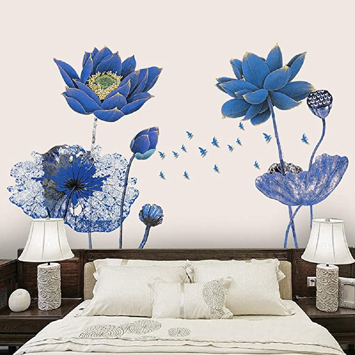 Top 9 Blue Wall Sticker Decor Flower