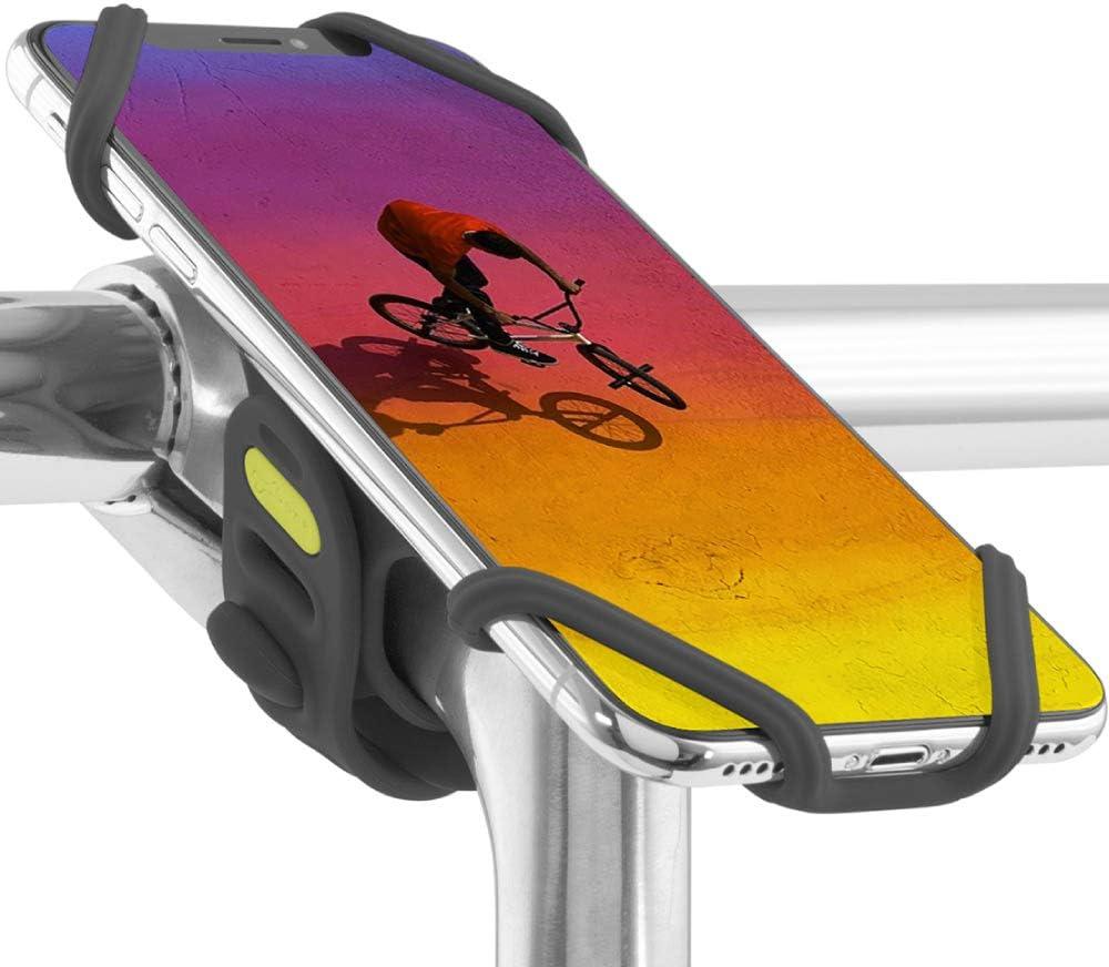 Bone Bike Tie Pro 2, Universal Bike Phone Mount for Stem Mount, Bicycle Motorcycle Stem Handlebar Cell Phone Holder for iPhone 12 11 Pro Max XS XR 8 7 6 Plus (Black)