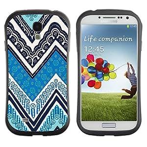 Suave TPU GEL Carcasa Funda Silicona Blando Estuche Caso de protección (para) Samsung Galaxy S4 I9500 / CECELL Phone case / / Ink Blue White Pattern /
