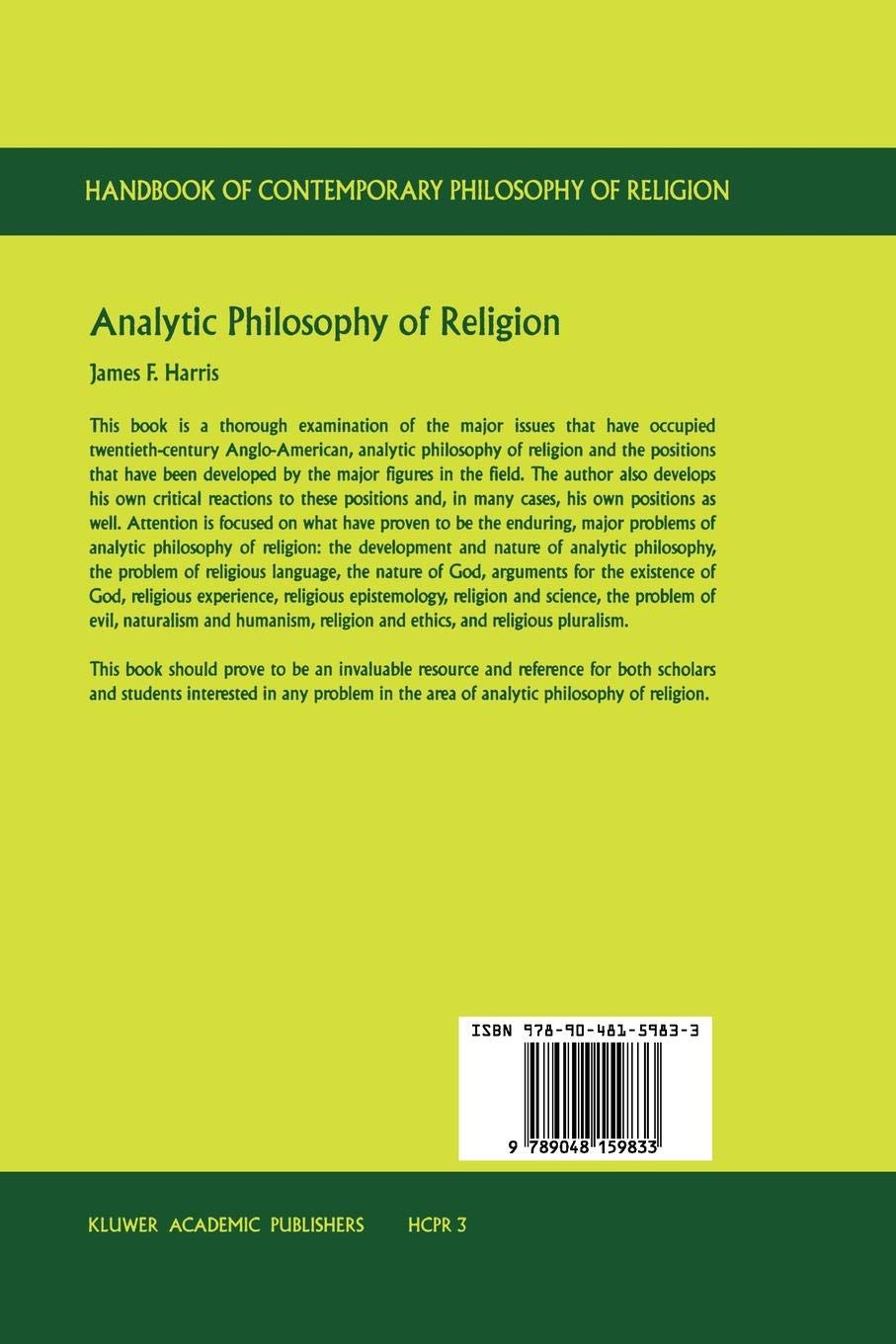 Analytic Philosophy of Religion