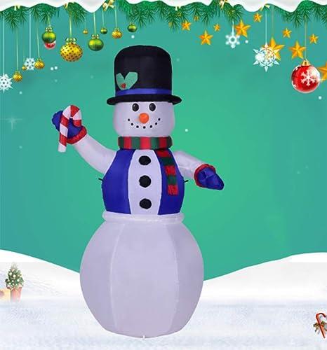 CVDEKH Christmas Papá Noel Hinchable Chaleco Azul Muñeco De ...