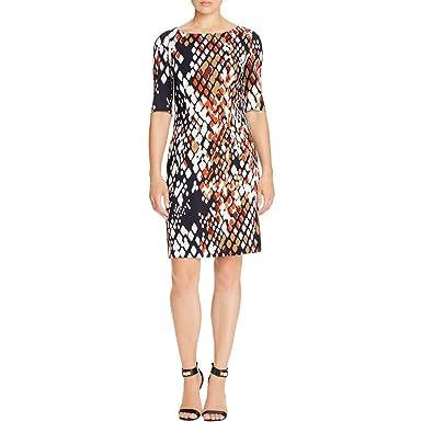 169835688ad BOSS Hugo Womens Dinomi2 Printed Elbow Sleeves Casual Dress - Multi ...