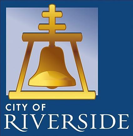 amazon com square city of riverside bell logo sticker decal rh amazon com riverside ca bell logo riverside ca bell logo