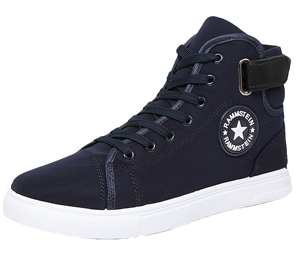 Amazon.com: King Ma Zapatos de lona Fashion high-top ...