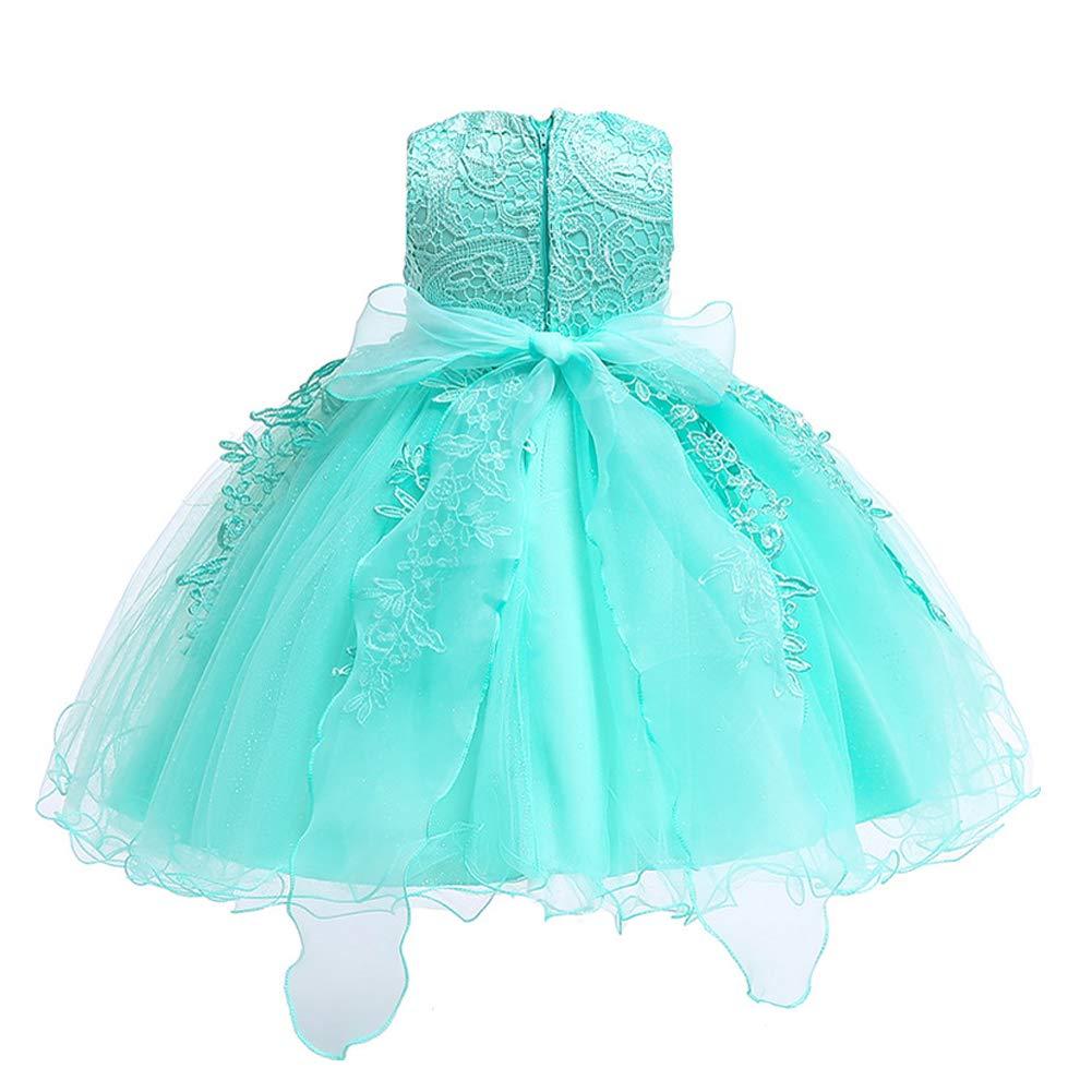 LZH Girls Birthday Dress Baptism Wedding Party Flower Dress