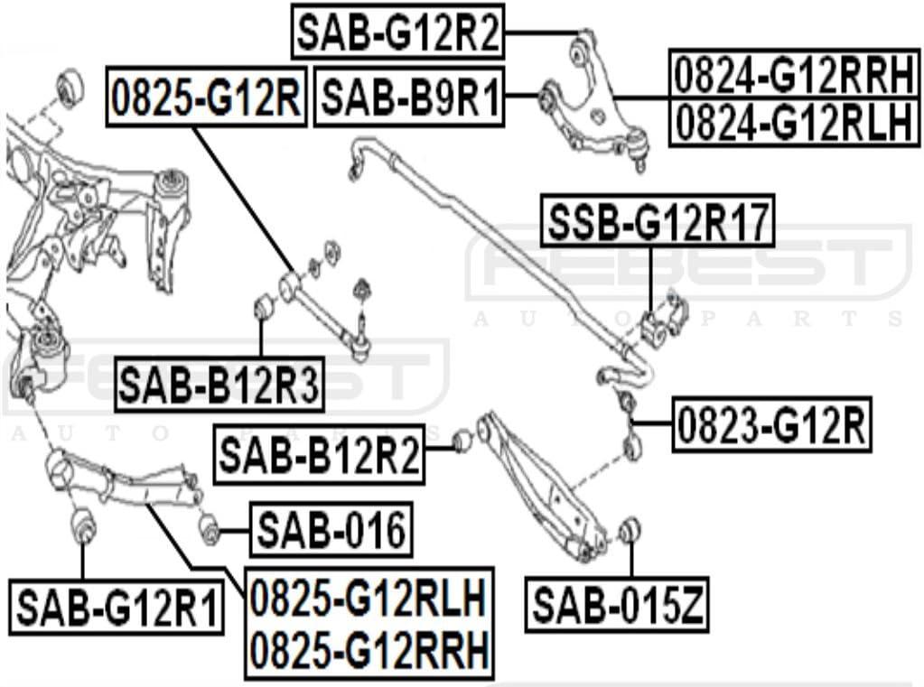 Left Upper Rear Arm For Subaru 20252-Sc010 20252Sc010