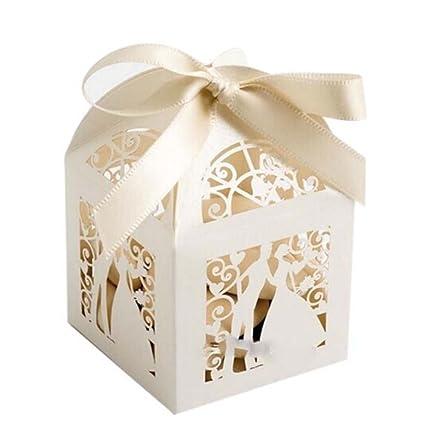 WINOMO - Cajas de regalo para boda, fiesta, caramelos, recuerdos o golosinas –
